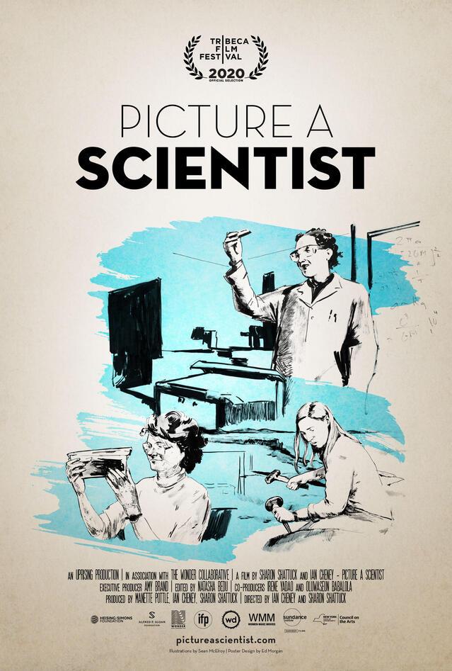 Plakat picture a scientist