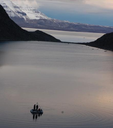 Raft for sediment coring
