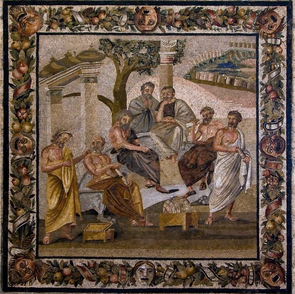 Plato's Academy in mosaic