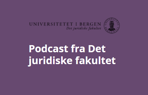 Logo for podcast ved UiB Juss