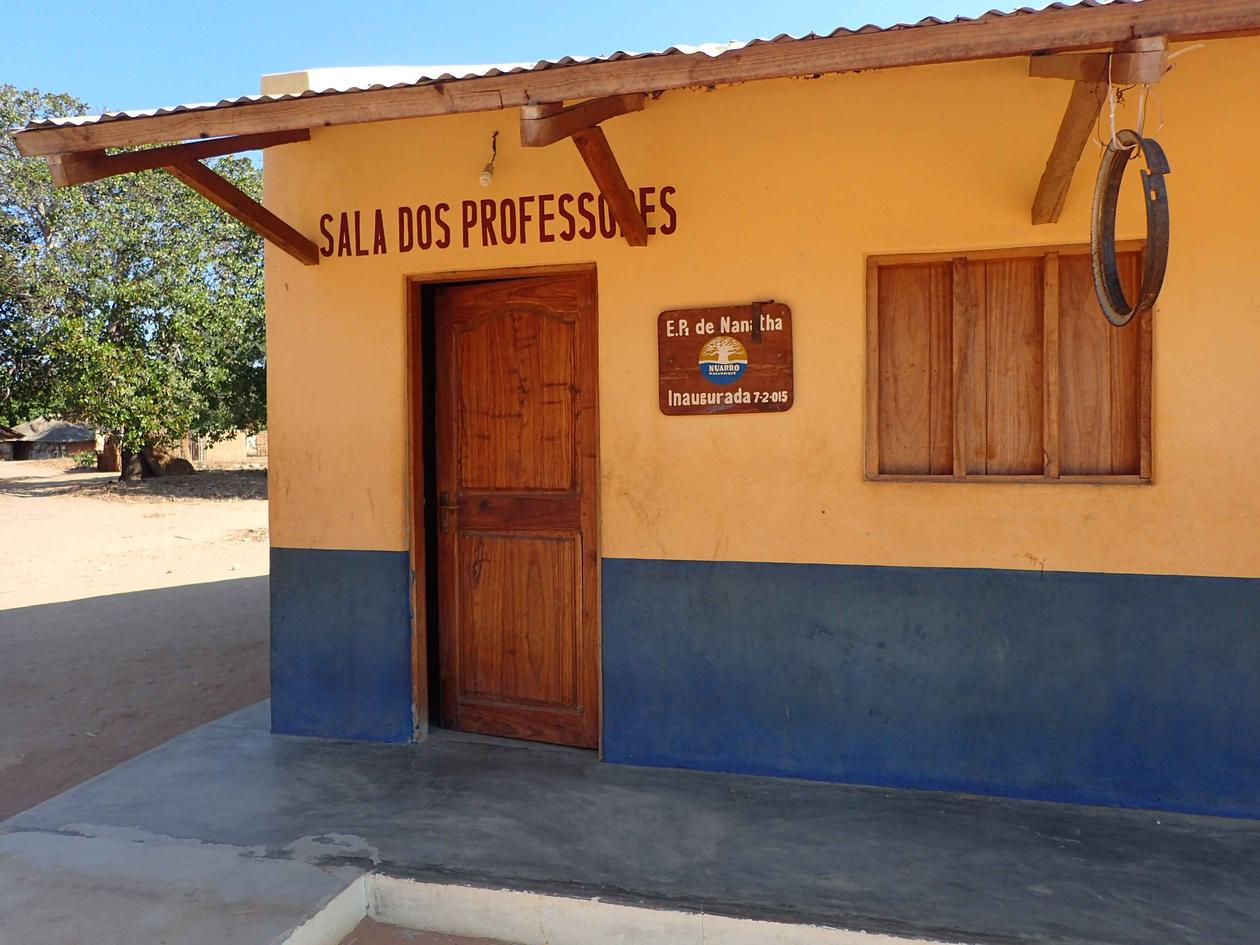 Primary school built by the lodge at Nangata village