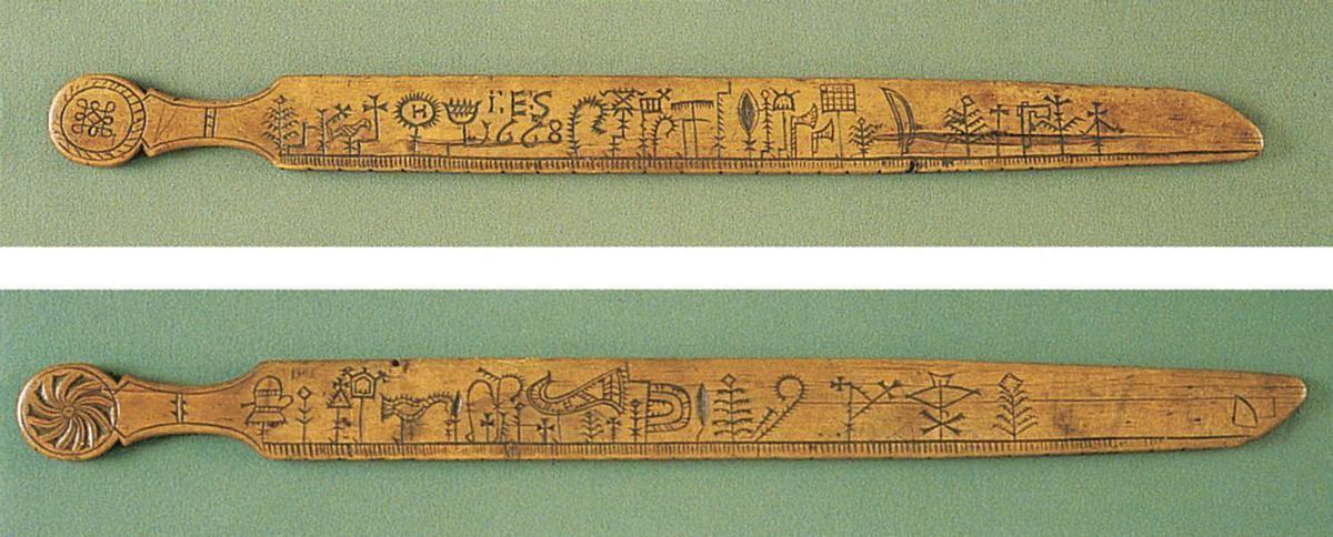 primstav stick of wood with symbols