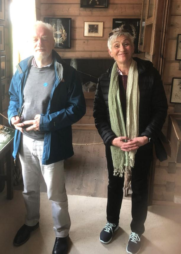 Prof. Marion Kusche-Gullberg with Prof. John Couchman at the Grieg museum