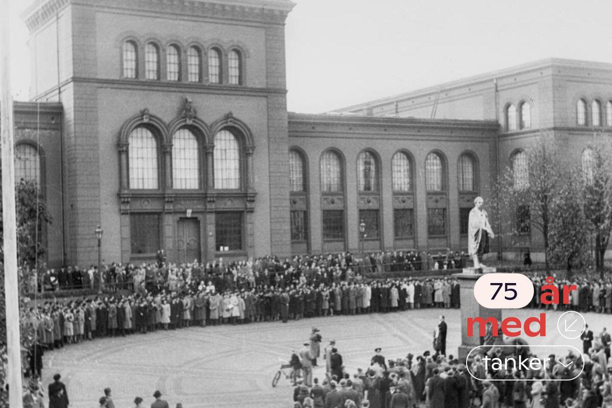 Feiring av grunnstensnedleggelse av Universitetet i Bergen 1946