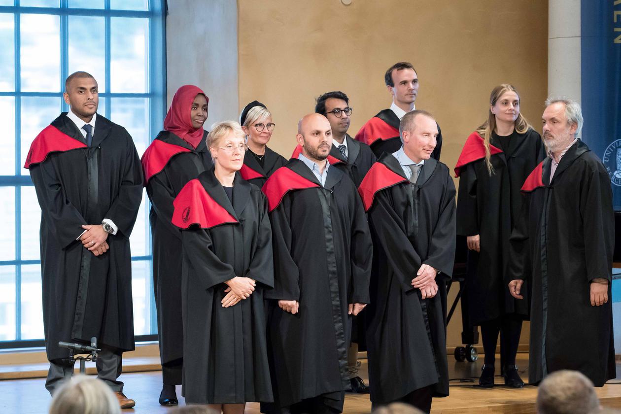 Doktorpromosjon 31. august 2018 kandidater ved Det medisinske fakultet