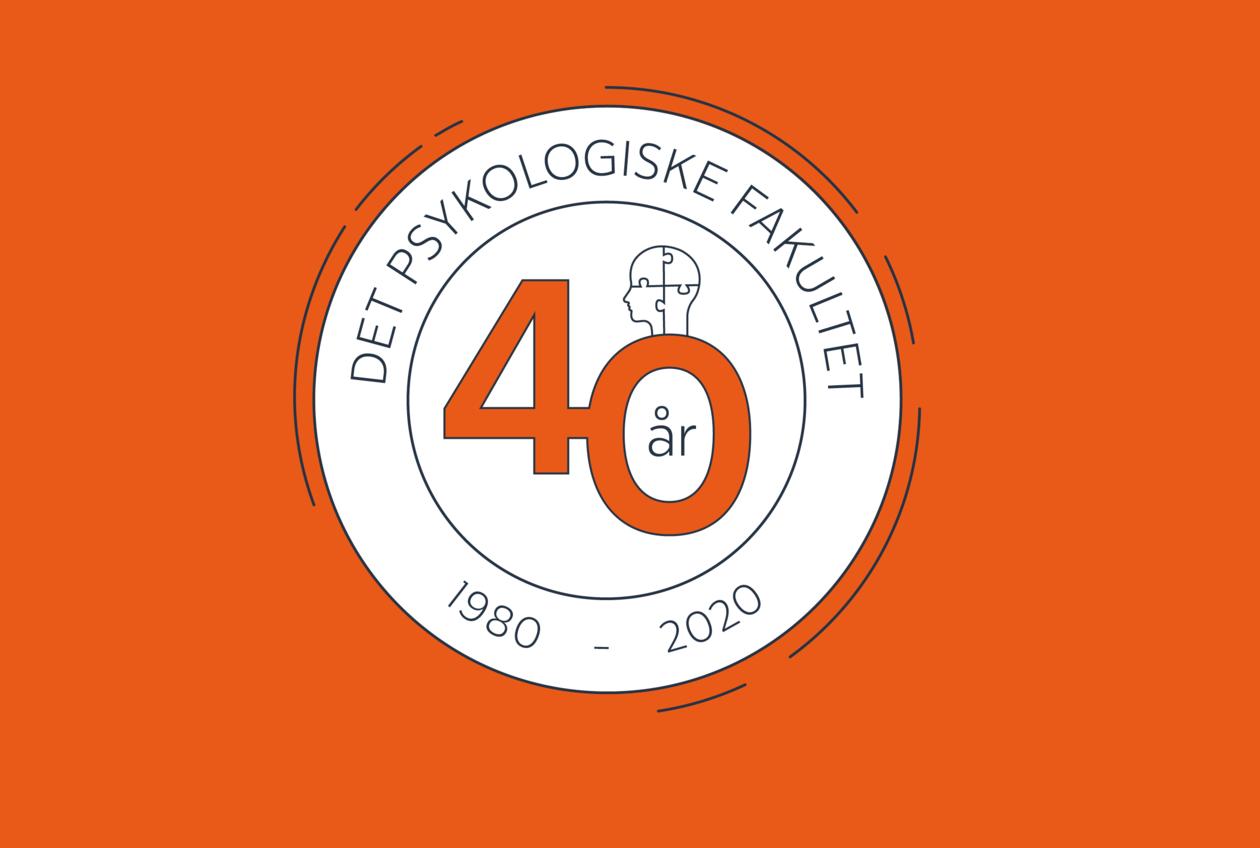 Logo for Det psykologiske fakultets 40-årsjubileum