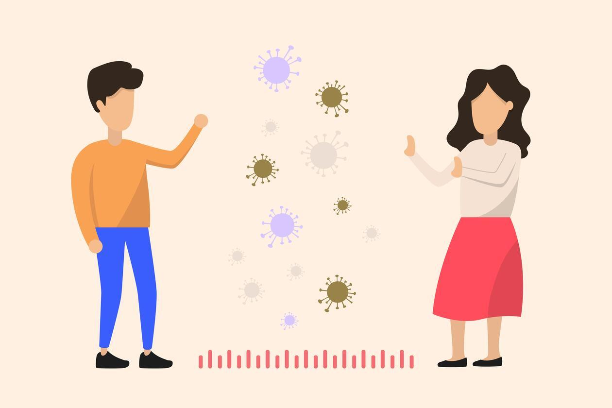 Illustrasjonsbilde: hold avstand for å unngå smitte