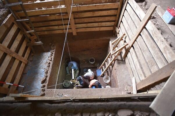 Excavation site for earliest African burial 78000 year