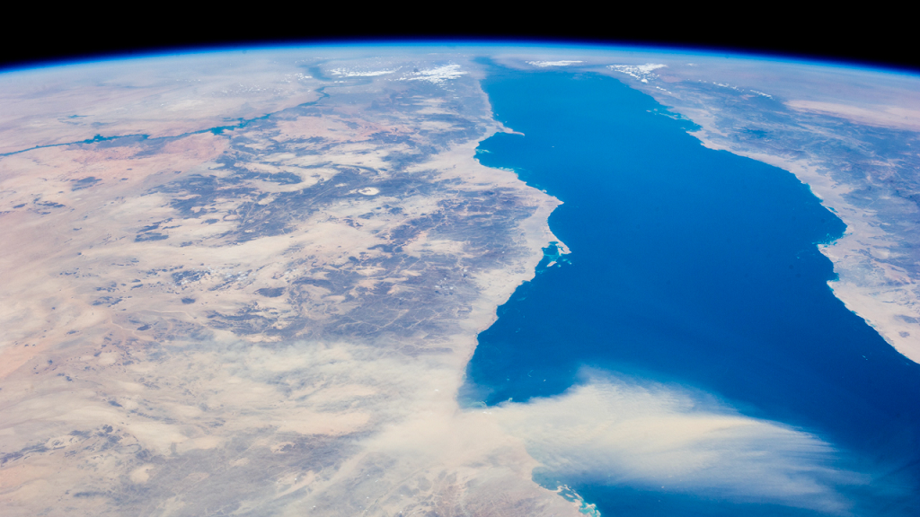 Red Sea seen from space