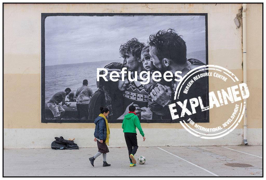 Refugee kids playing ball