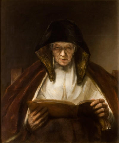 Old Woman Reading, Rembrandt, 1655