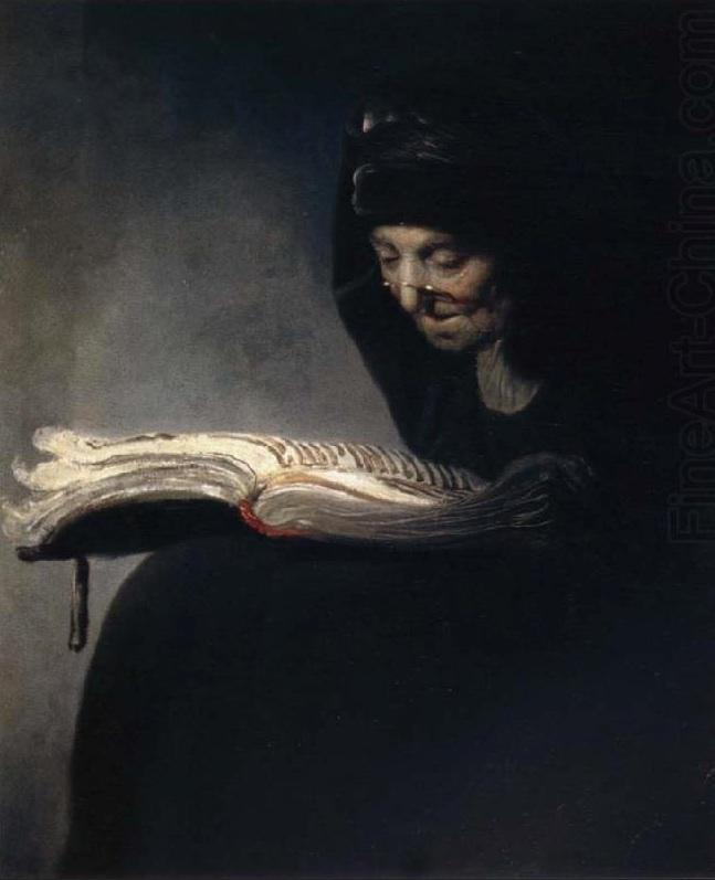 Rembrandt's mother reading