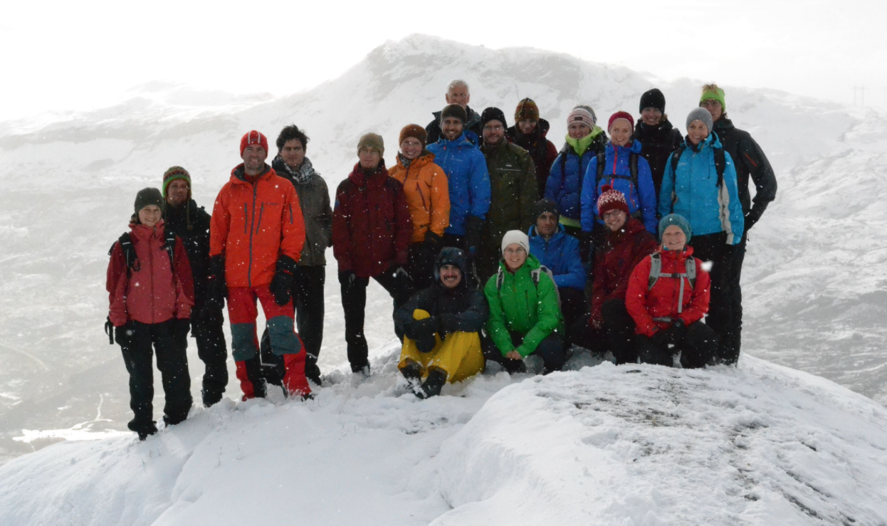 PhD candidates from the ResClim research school at Finse in Norway.
