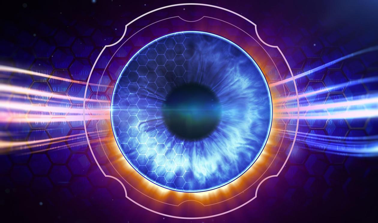 Illustration of a retina.