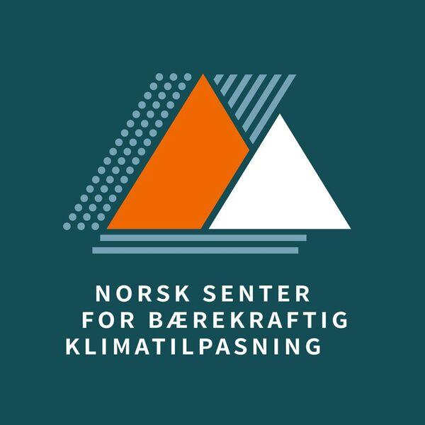 logo with orange and white triangles on blue background