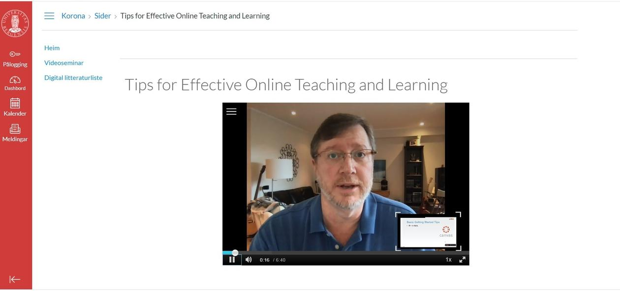 Robert Gray teaching online