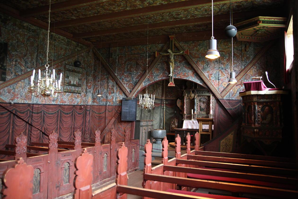 Interør fra Røldal kirke