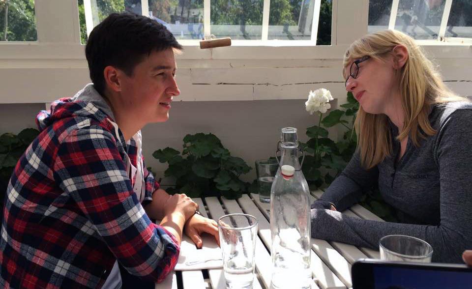 Mari and Anna at Rosendal