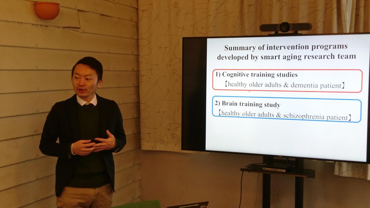 Forskeren Rui Nouchi under sin presentasjon.