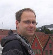 Portrait of Fabian Rentzsch in front of Bryggen, Bergen