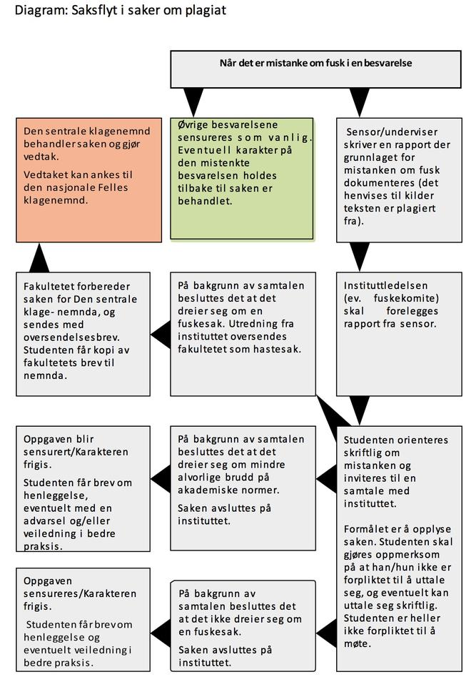 Diagram - saksflyt ved mistanke om fusk