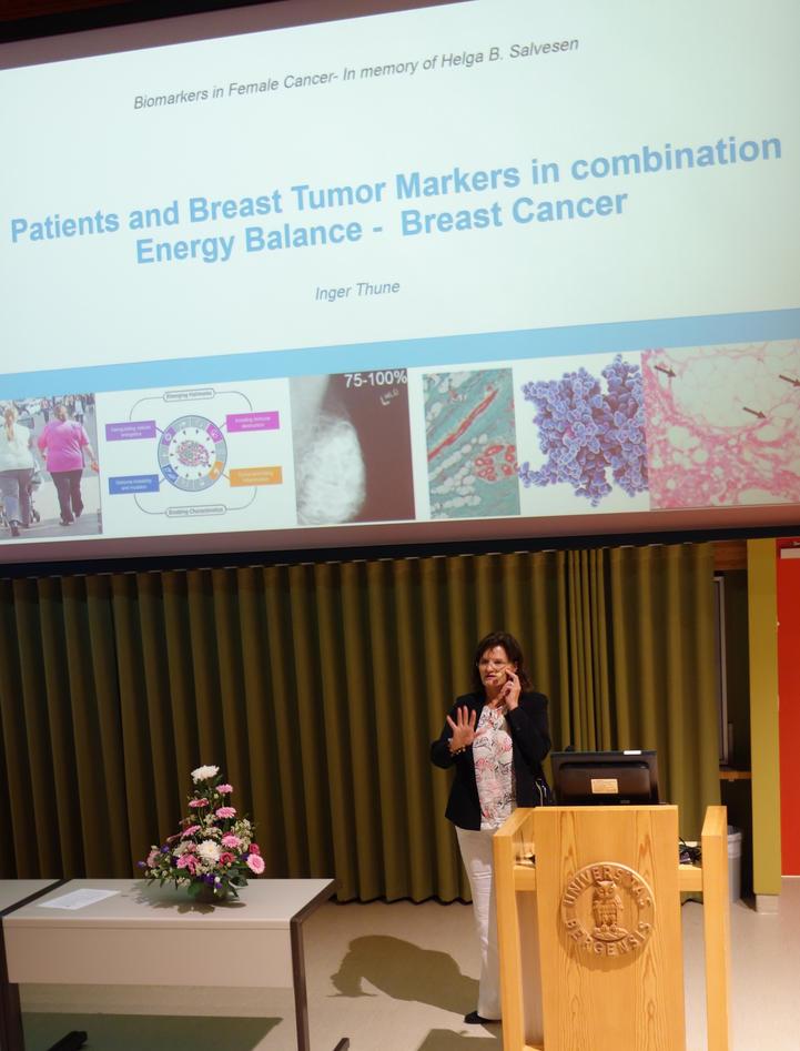 Inger Thune held foredrag på Helga Salvesen Memorial Symposium.