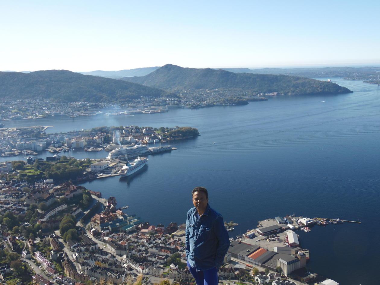 Asela Perera above Bergen