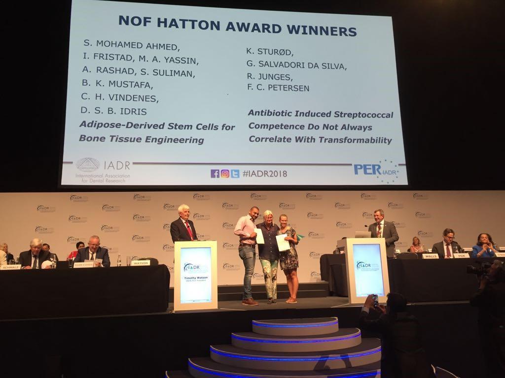 NOF Hatton award 2018