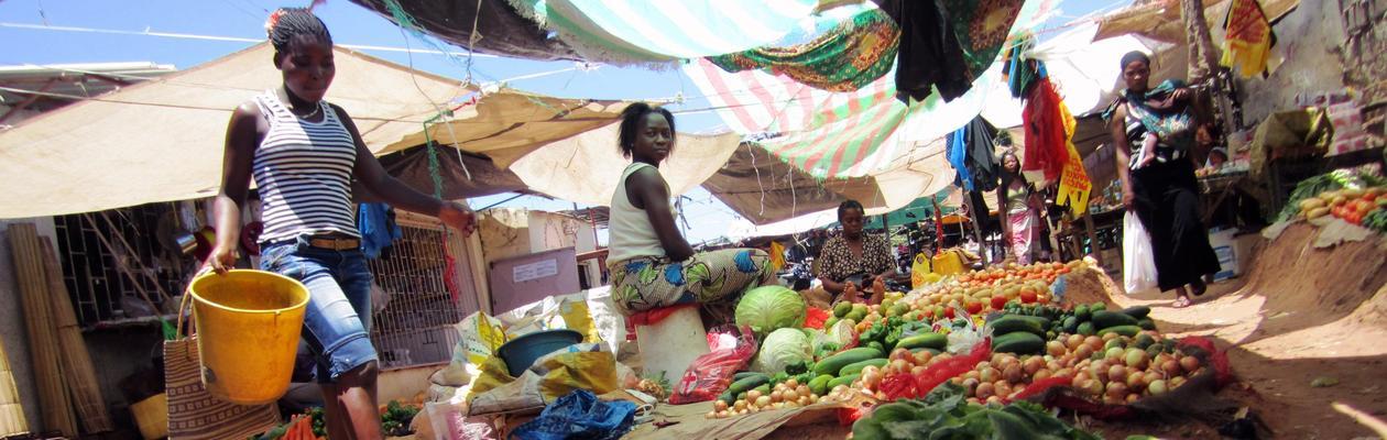 Grønnsaksmarked i Maputo