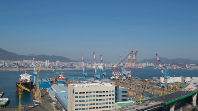 Shipyard in Pusan, South Korea