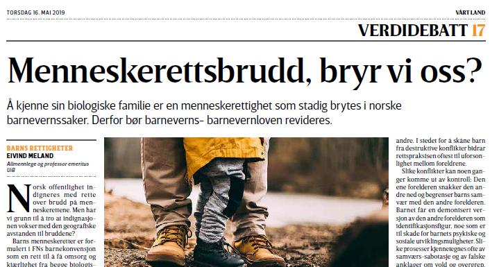 Screen shot Vårt land