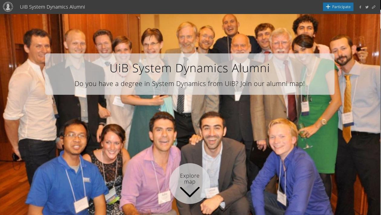 UiB System Dynamic Alumni map