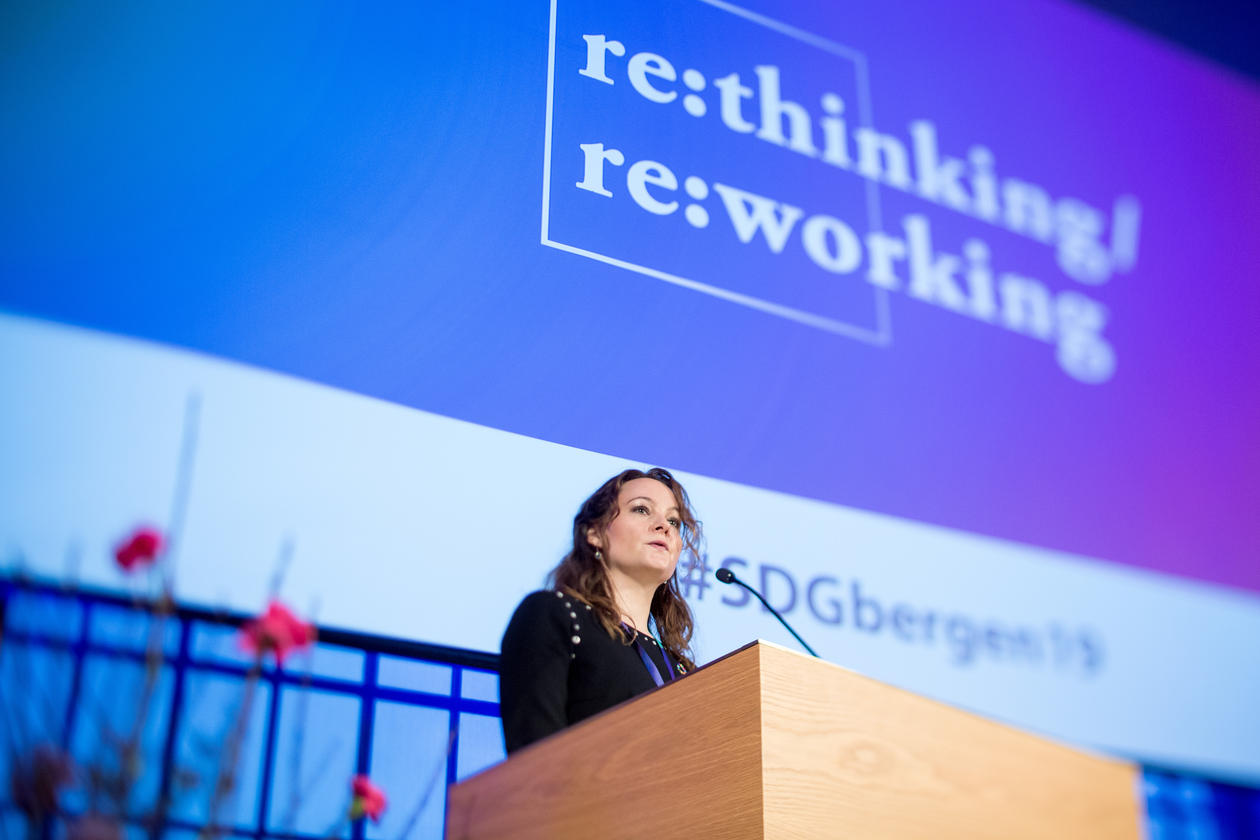 State Secretary to the Norwegian Minister of Research and Higher Education Ms Rebekka Borsch opens the 2019 SDG Conference Bergen on Thursday 7 February.