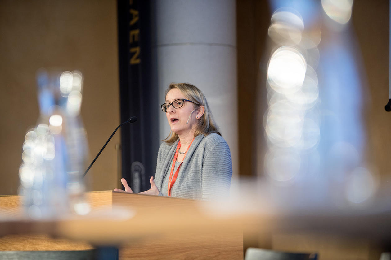 Katja Hujo ved United Nations Research Institute For Social Development var blant foredragshaldarane på Bærekraftskonferansen i Bergen.