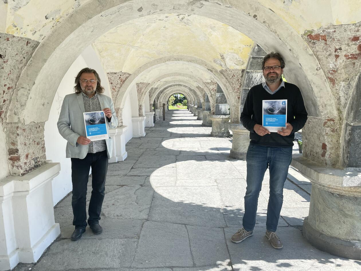 Edvard Hviding and Benjamin Pfeil from the University of Bergen present the first SDG Bergen Policy Brief on World Ocean Day, 8 June 2021.