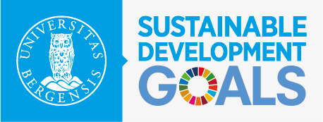 The logo for SDG Bergen, a strategic initiative from the leadership at the University of Bergen on the Sustainable Development Goals.
