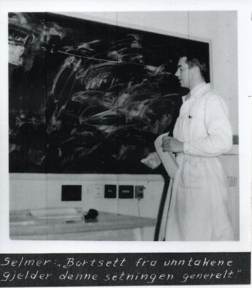 Ernst Selmer foreleser 1957