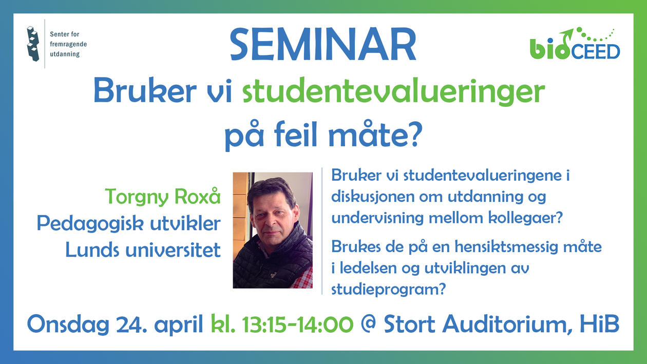 bioCEED seminar announcement