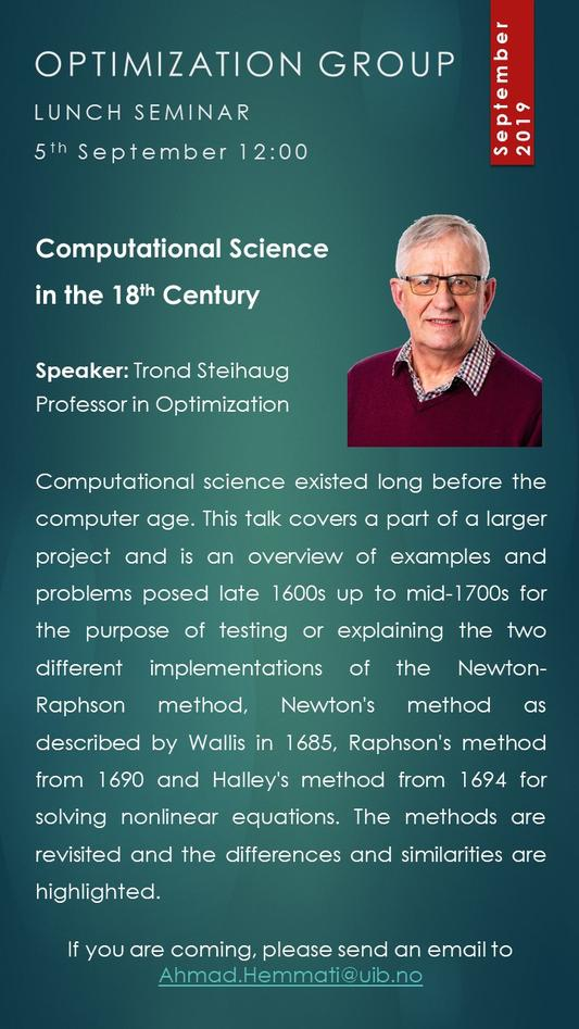 Computational science seminar
