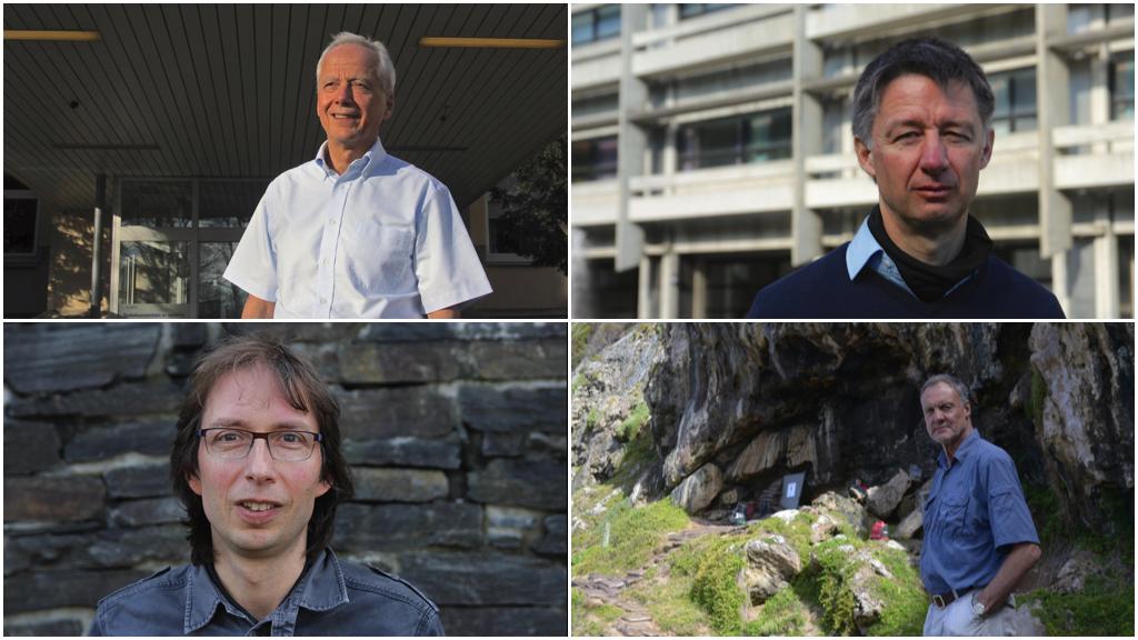 Portrett av de fire forskerne som står bak søknadene