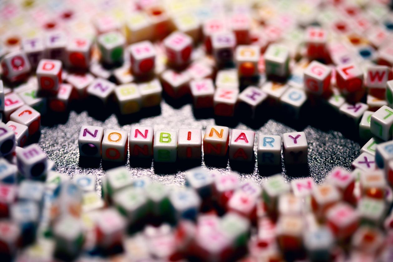 Scrabble tiles spell nonbinary