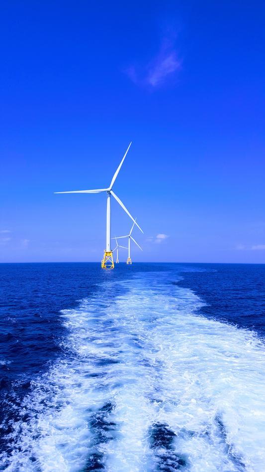 windturbines at sea