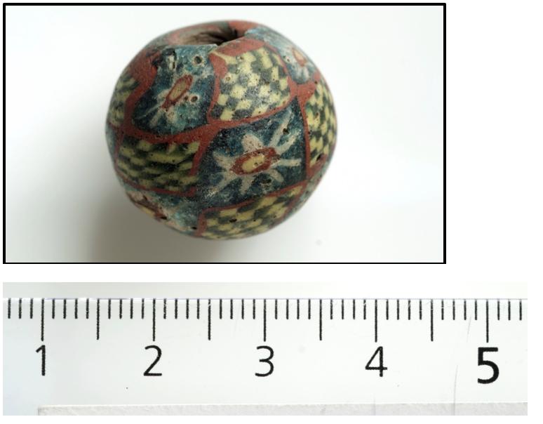 Millefiori -perlen fra Terum, Aurland