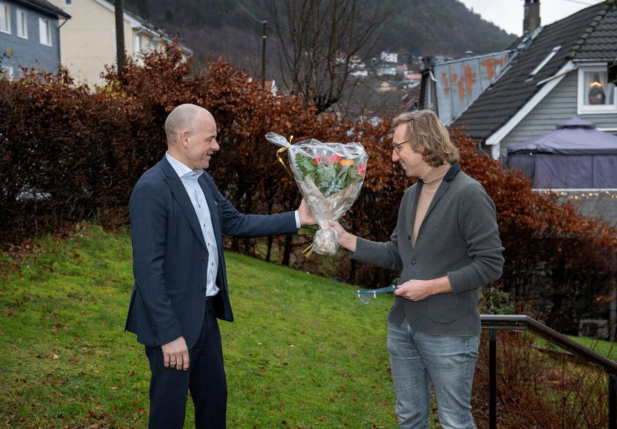 Daglig leder i TMS, Sveinung Hole og Willem van der Bilt.