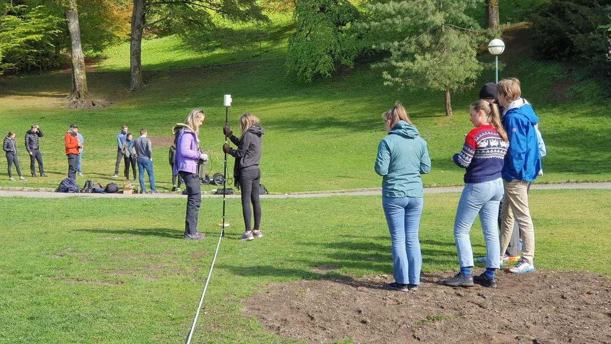 Geofysisk feltarbeid i Nygårdsparken