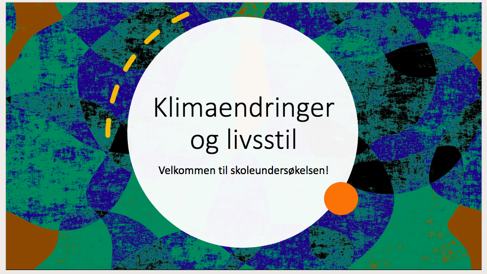 Presentasjon: Klimaendringer og livsstil