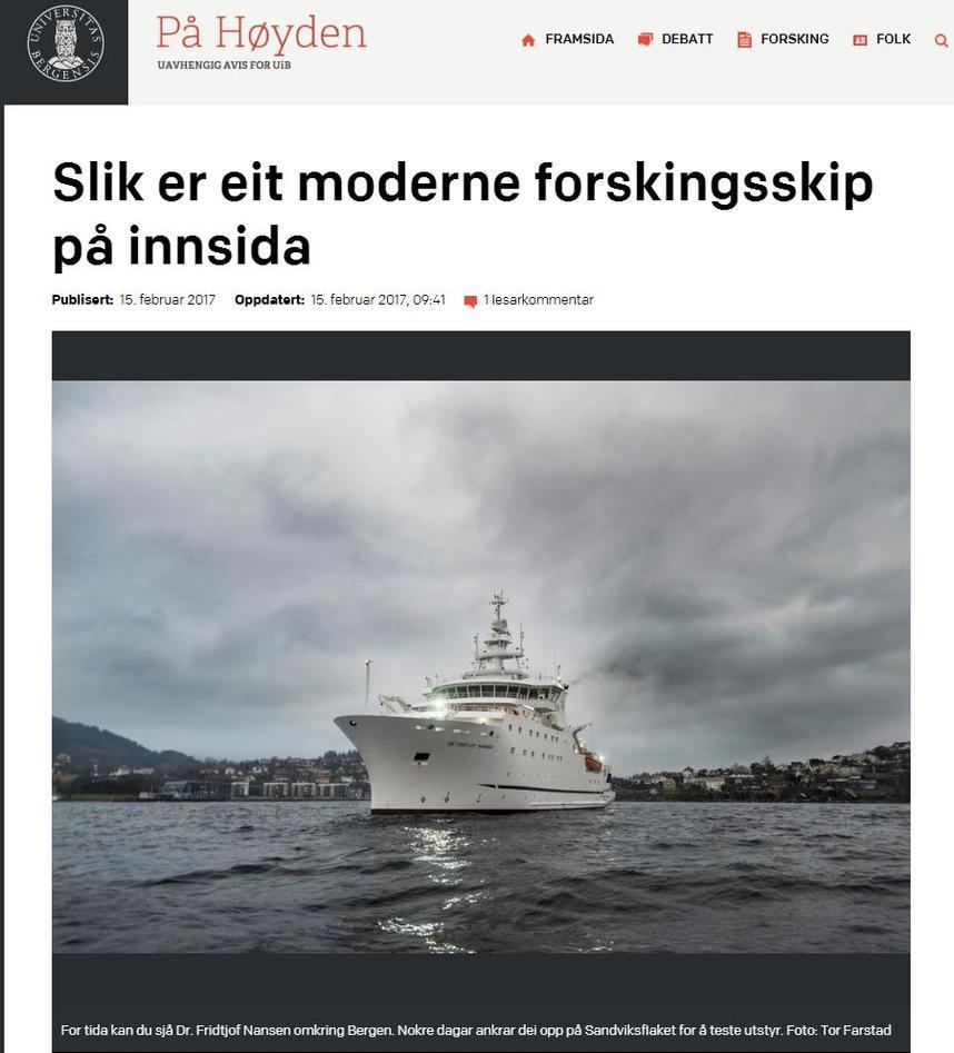 Forskningsskipet Dr. Fridtjof Nansen