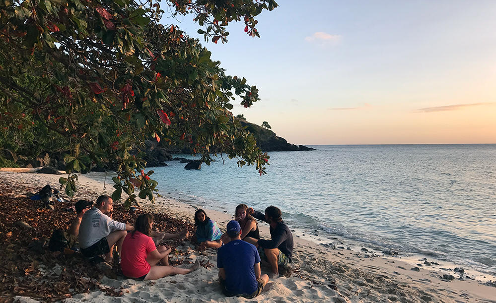 Solnedgang på Fiji