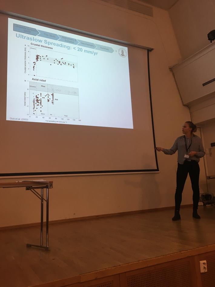 Solveig Lie Onstad presenting her masterthesis