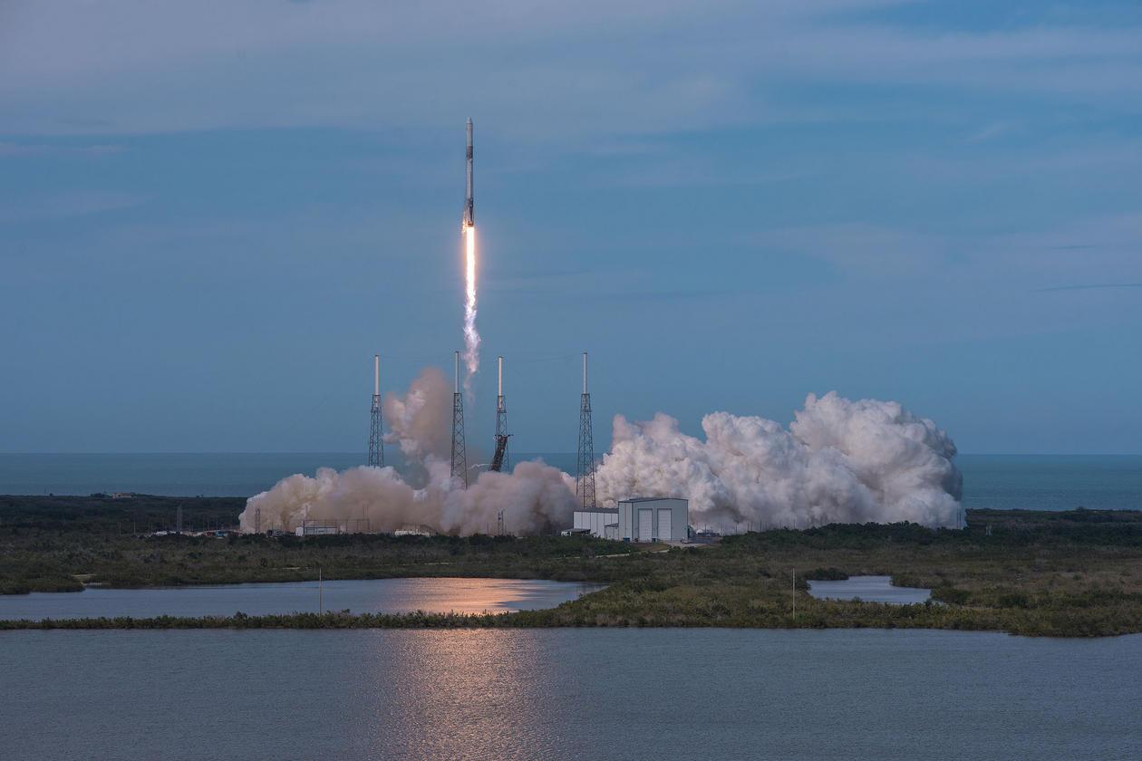 SpaceX-oppskytning med ASIM-instrumentet.